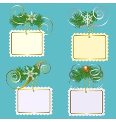 Set of Christmas labls vector image