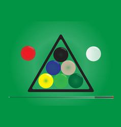 snooker ball on snooker table vector image vector image