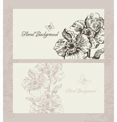wedding invite with floral background vector image vector image