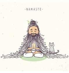 yogi character color vector image