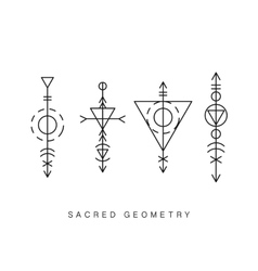Sacred geometry signs set vector