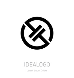 Abstract logo design template High-tech vector image