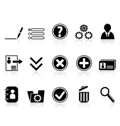 Black internet account settings icon vector