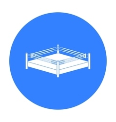 Boxing ring icon in black style isolated on white vector image