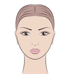 Woman s face vector