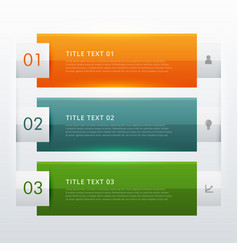 Modern three steps infographic template design vector