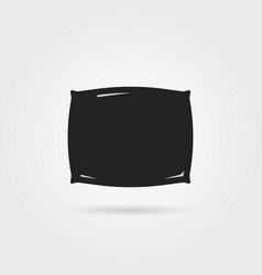 simple black pillow icon with shadow vector image
