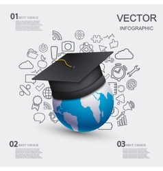 modern education infographic background vector image