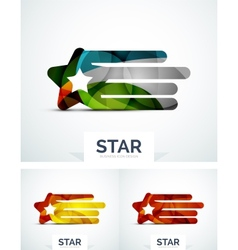 Abstract colorful logo design vector