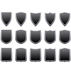 Metal shields vector