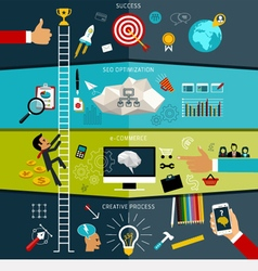 Concept of seo web searching creative process vector