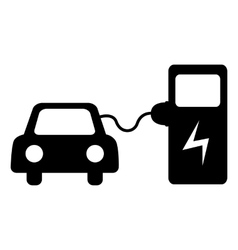 Electrocar battery charging vector