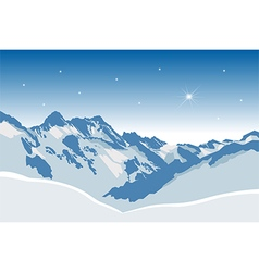Winter mountains380x400 vector image
