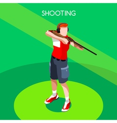 Shooting 2016 summer games 3d isometric vector