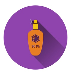Sun protection spray icon vector