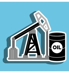 Barrel and petroleum isolated icon design vector