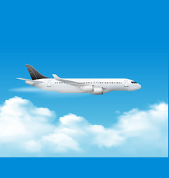 airplane over the top composition vector image vector image