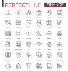 business finance thin line web icons set money vector image vector image