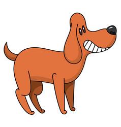 Cartoon beagle smiles vector