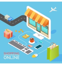 Concept of online shop vector image vector image