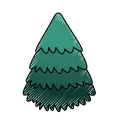 cute scribble christmas tree vector image vector image