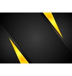 Dark contrast black yellow background vector
