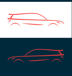 Design car fast racing automobile red silhouette vector