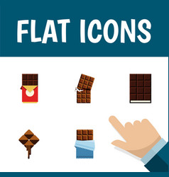 flat icon sweet set of bitter wrapper delicious vector image vector image
