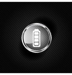 Full battery web icon vector