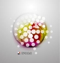 Futuristic colorful circles vector image
