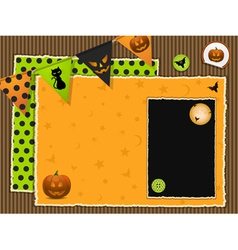 halloween scrapbook background vector image