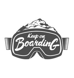 handdrawn vintage snowboarding quotes vector image vector image