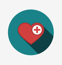 Heart icon with plus vector