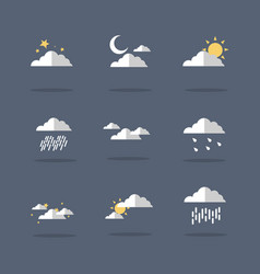 Icon of weather set flat vector