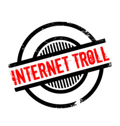 Internet troll rubber stamp vector
