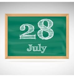 July 28 day calendar school board date vector