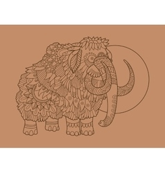 Mammoth hand drawn vector