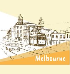 melbourne australia vector image