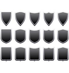 metal shields vector image vector image
