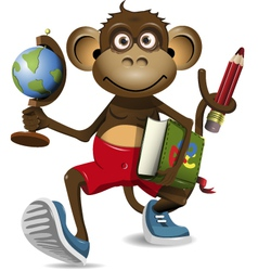 monkey student vector image vector image