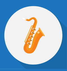 Of melody symbol on saxsaphone vector