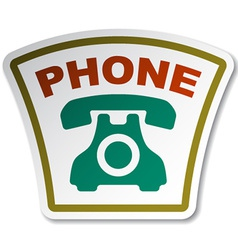 Old phone sticker vector