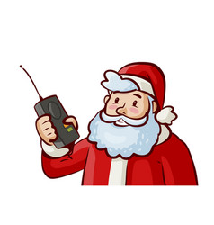 santa claus christmas xmas concept cartoon vector image vector image