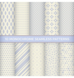 Set of monochrome seamless patterns vector