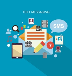 Text Messaging vector image vector image