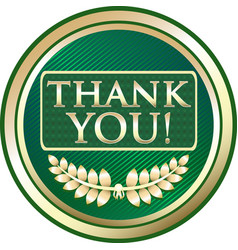 thank you icon vector image