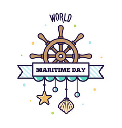 world maritime day vector image vector image