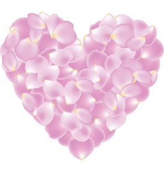 Petal shaped heart vector