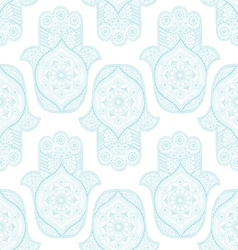 Seamless pattern with indian hamsa vector