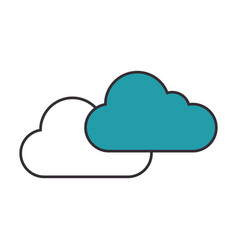 clouds icon image vector image